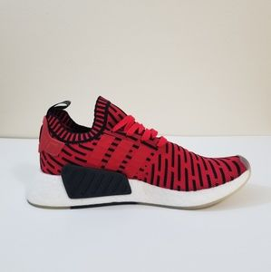 ba81e96ca7d ... Adidas NMD R2 Prime Knit Core Red Size 9 ...